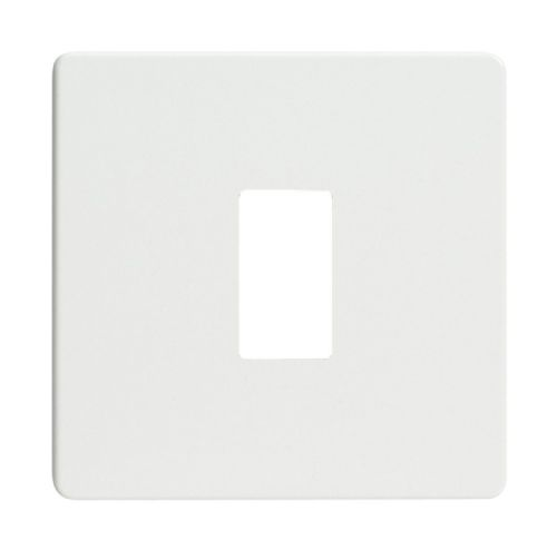 Varilight XDQPGY1S Screwless Premium White 1 Gang PowerGrid Plate (Single Plate)